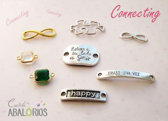www.cuentaabalorios.com Conectores para pulseras o colgantes. Connector.