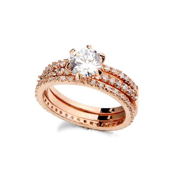 Allencoco горячая распродажа exquisited CZ каменные кольца, фамильные античная CZ последние обручальное кольцо дизайн 3 шт.. комплект