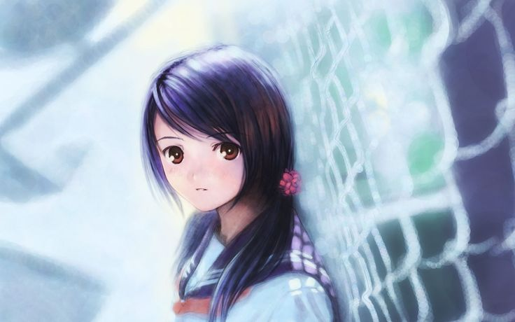 cute anime girl wallpaper hd free