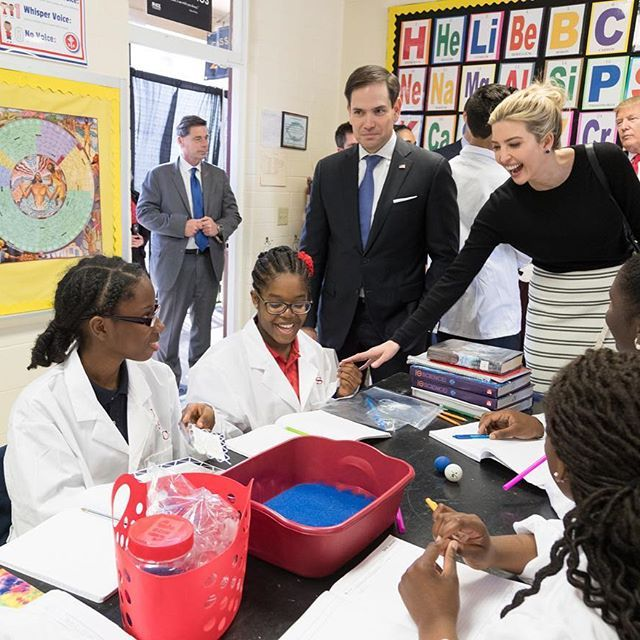 Arabella and I were honored to join @realdonaldtrump, @marcorubiofla, Governor Rick Scott and Secretary Betsy DeVos today in Orlando to learn about the great work being done at St. Andrew Catholic School. Thank you to the committed teachers and staff for all that they do for their amazing students.