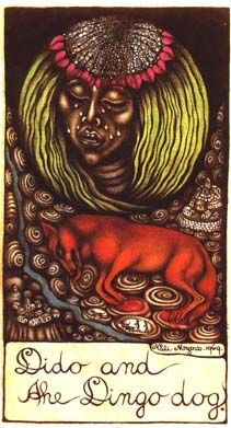 Dido and the Dingo Dog: by Vali Myers (2 August 1930 – 12 February 2003) Australian artist