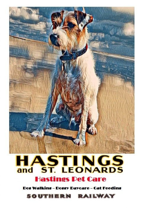 Dog Walking Posters - Hastings Pet Care - St Leonards Fairlight
