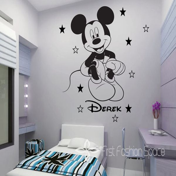 disney wallpaper for bedrooms. Name Personalized Removable Mickey Mouse Cartoon Vinyl Wall Decals Art  Stickers Kid Room Wallpaper Decor 25 unique mouse wall decals ideas on Pinterest Minnie