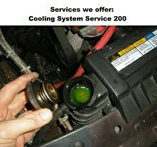 Cooling System Service 200⠀ ⠀ ⠀ Radiator Repairs & Cooling System Pressure Tests⠀ New Replacement Radiators⠀ Water Pump Service⠀ Thermostats⠀ Freeze Plug Service⠀ Cylinder Head Gasket & Cylinder Head Service⠀ Cooling System Flush⠀ Coolant Exchange Service Using Necessary Coolant⠀ Thermostatically Controlled Circuits⠀ Electrical Fan & Motor Assemblies⠀ Cooling System Re-Hose Service ⠀ Electrical Repairs to Dashboard Monitoring Lights & Gauges that Affect the Operation of the Cooling System⠀