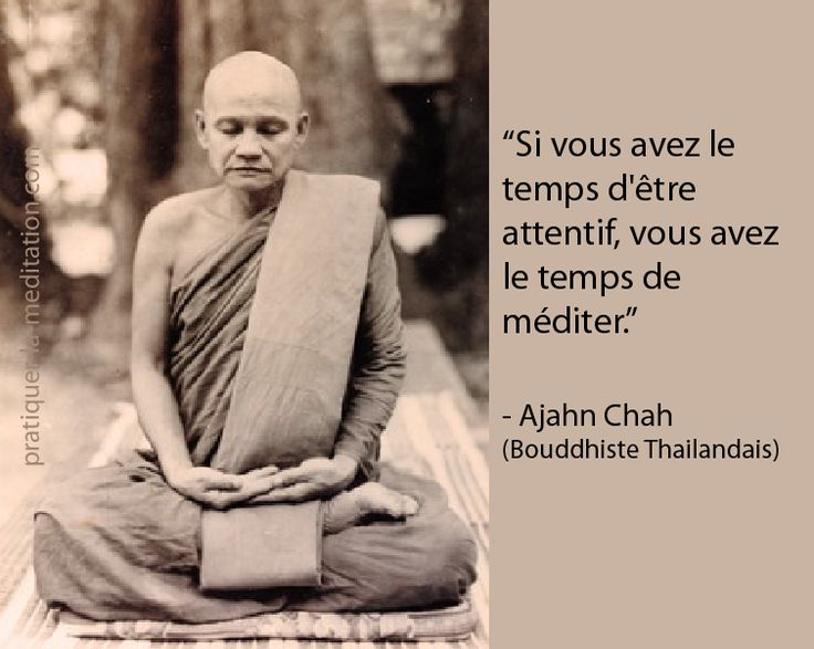 Citation Sagesse    Pratiquer la Méditation