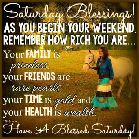 Saturday Blessings Days Of The Week Morning Quotes