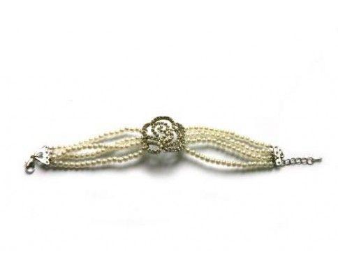 Vintage náramok perličkový s kvetom #vintage #vintagejewelry #womanology