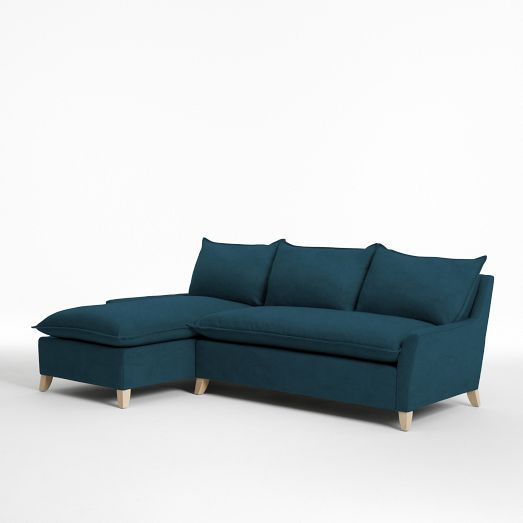 Bliss Down-Filled 2-Piece Chaise Sectional | west elm  sc 1 st  Pinterest : west elm bliss sectional - Sectionals, Sofas & Couches