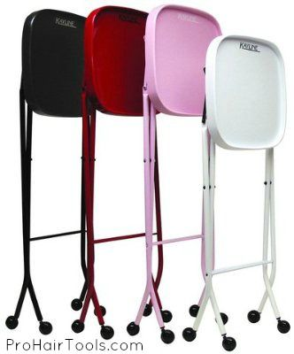 Kayline Fold-A-Way Service Tray in COLOR, Lipstick Red, Pampered Pink, Crystal White & Crystal Black! $79.95 + FREE Shipping on ALL Salon Equipment! @ ProHairTools.com