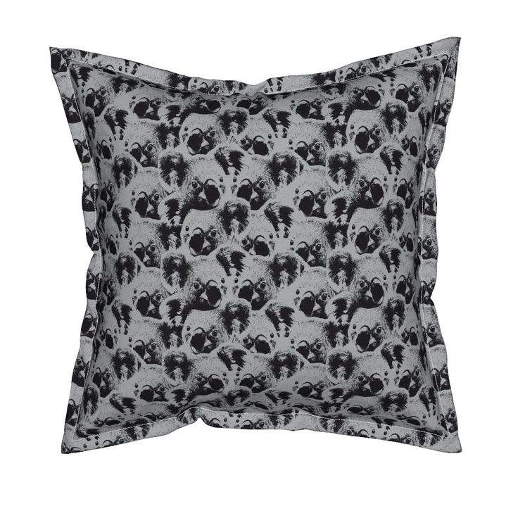 Koalas grey and black Pillow by susiprint | Roostery Home Decor