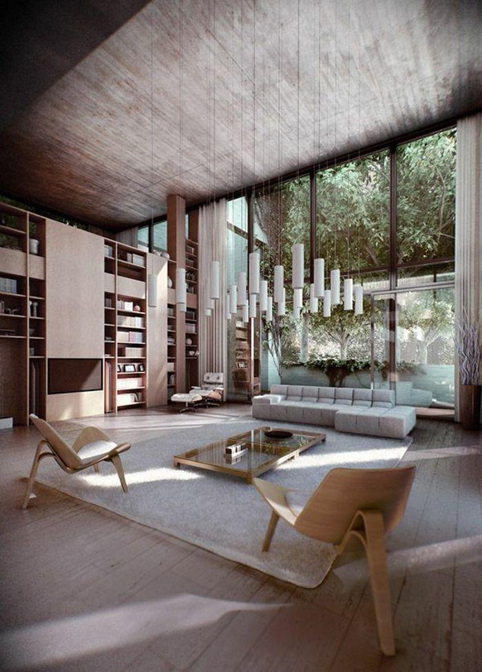 table carrée, deux tables basses carrées, chaises élégantes
