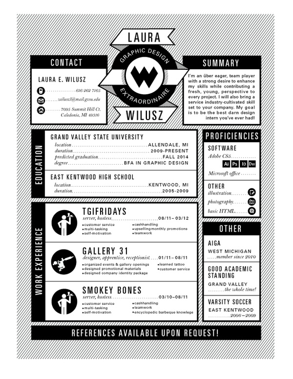Design trend: infographic resume | Courtney Mellinger | Graphic Design Blog and Portfolio