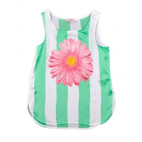 Monnalisa Flower Pr Tank Top