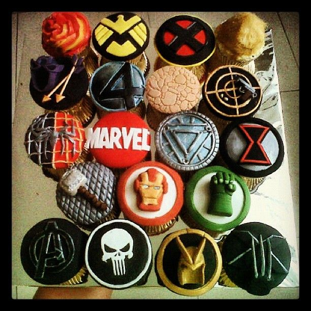 MARVELous cupcakes.