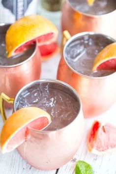 Grapefruit Moscow Mules | Swap grapefruit juice in place of the lime juice and voila! Grapefruit Moscow Mule. /greens/ & chocolate