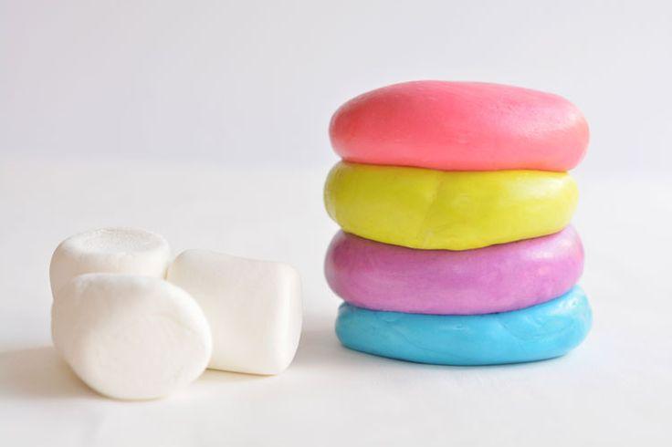 How to Make Edible Marshmallow Play Dough