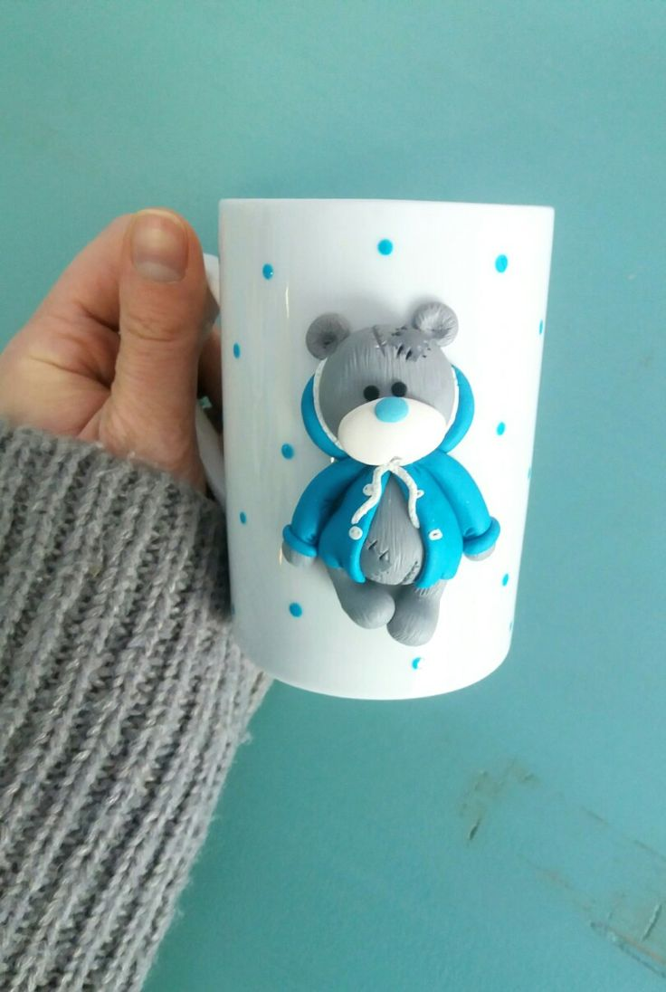 Teddy polymer clay mug