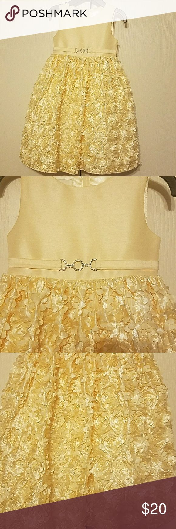 Girl's Formal Dress Yellow formal dress. Great for a flower girl dress or Easter Sunday dress. My daughter only wore it once for Easter Sunday. American Princess Dresses Formal