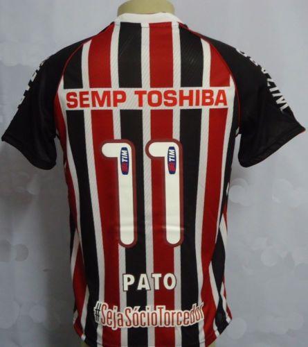 Pena-Sao-Paulo-FC-Away-Jersey-Camisa-de-emision-2013-de-11-Pato-match-coinciden-con-preparado