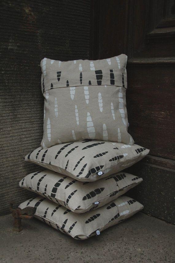 "handmade pillows form ""Halo, kosmos?""  Hand cut & screen-printed."