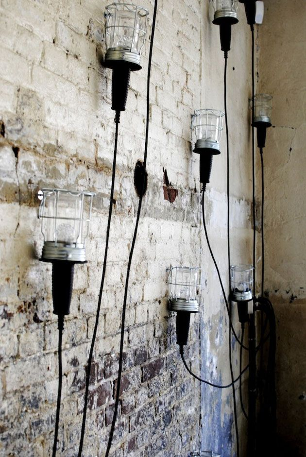 DIY Lighting Ideas: Wall Mounted Mechanic Lights