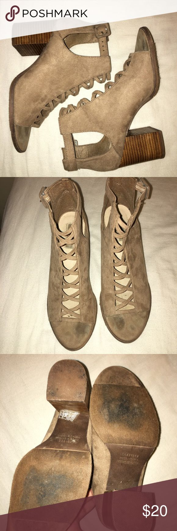 Charlotte Russe Wedges Charlotte Russe tan wedges. Worn once. Charlotte Russe Shoes Wedges