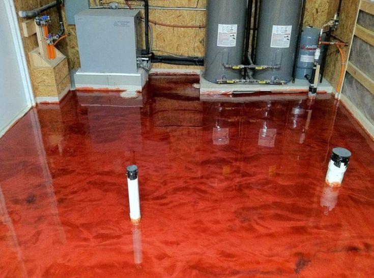 Metallic Marble Epoxied Basement Floor In Findlay, Ohio.