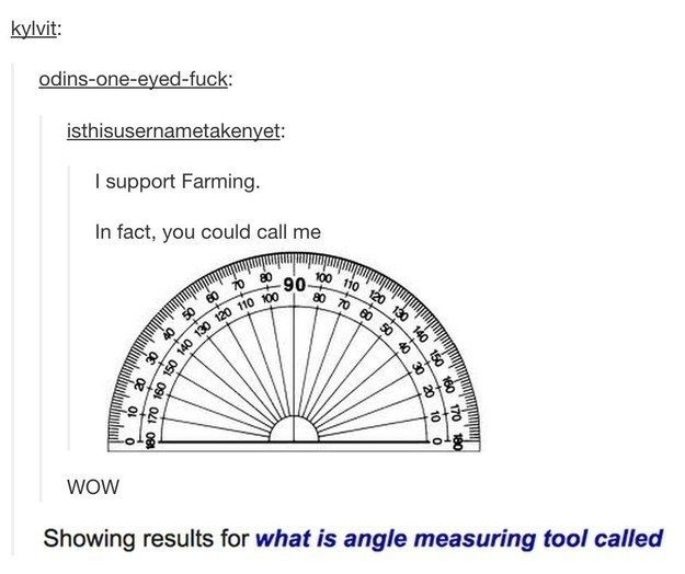 The angle measuring tool: | 33 Pictures You Need To Send To Someone Who Loves Puns