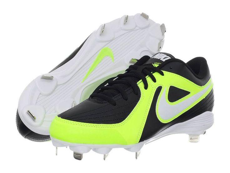 Nike Unify Spike Metal Strike (Neon Yellow/Black/White) Womens Softball  Cleats | Rachelles pinterest | Pinterest | Softball cleats, Cleats and  Softball gear