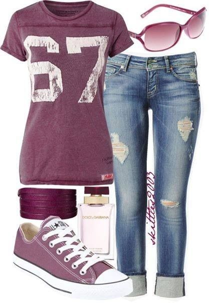 Cute autumn casual outfit. Fab colour Converse.
