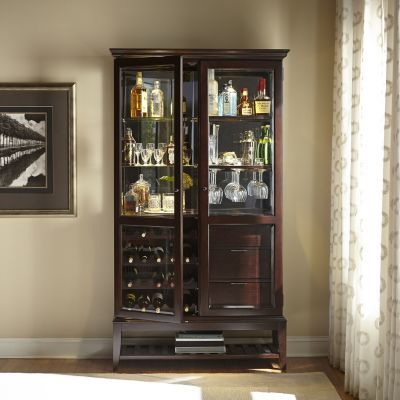 Living Rooms, Brayden Bar Curio, Living Rooms | Havertys Furniture