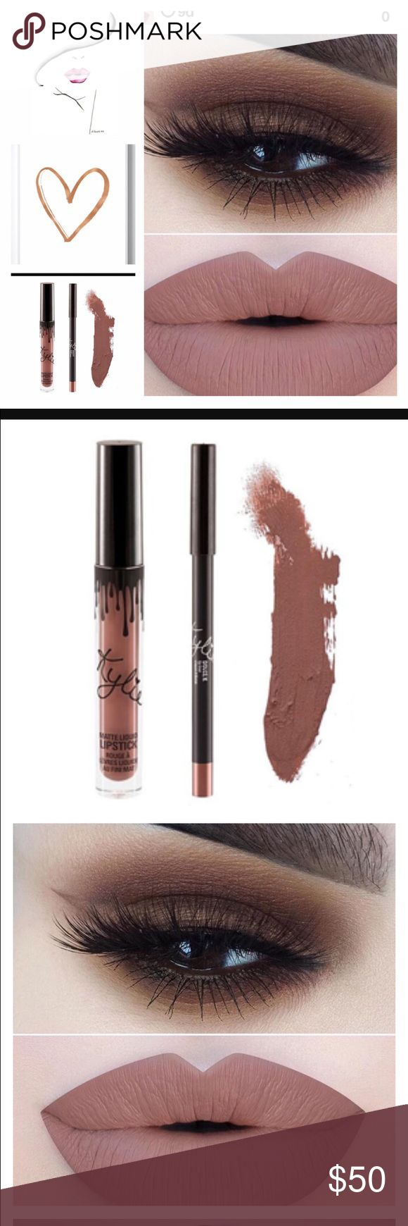 DOLCE K LIPKIT Kylie Jenner Lipstick  Gorgeous shade and stays on really well. Love this lipstick with a smokey eye.  Each Lipkit comes with the lip pencil and lipstick. Kylie Cosmetics Makeup Lipstick