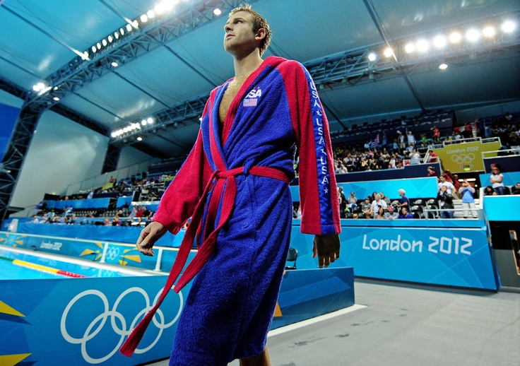 Chay Lapin (USA) is introduced prior to play against Montenegro during the 2012 London Olympic Games at Water Polo Arena