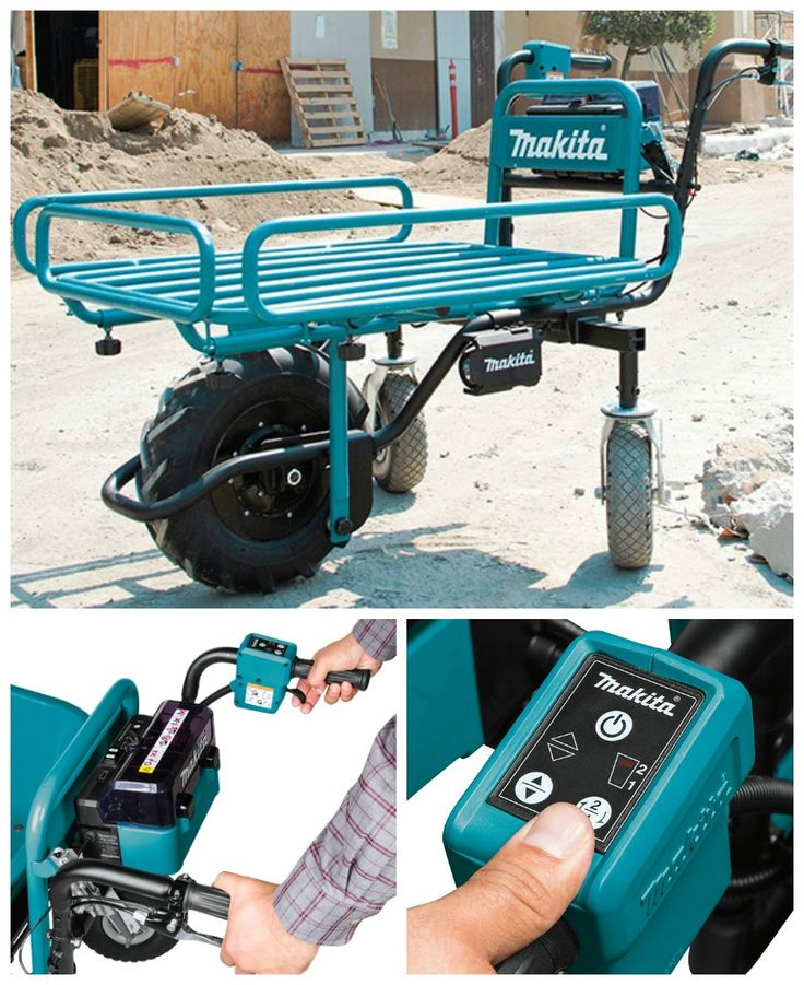 The Power Assisted Makita Flat Dolly Is Like A Wheelbarrow On Steroids Affiliate Makita Makita Tools Dewalt Tools