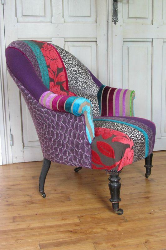 Les 25 meilleures id es de la cat gorie fauteuil crapaud sur pinterest chai - Fauteuil crapaud patchwork ...