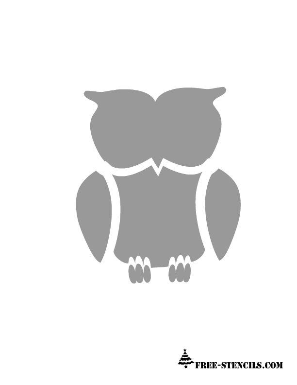 free-printable-owl-stencil-1.png 612×792 pixels