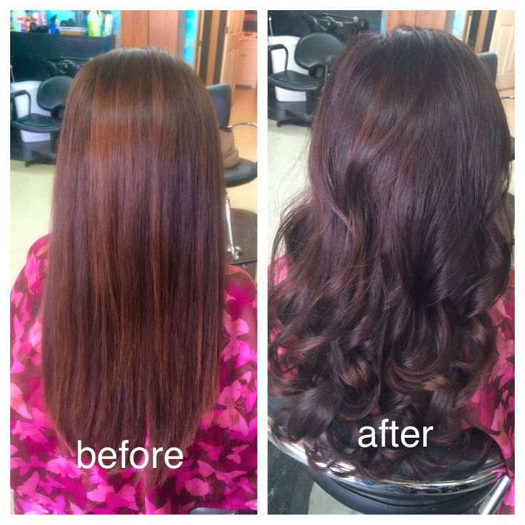 Brown To Dark Brown With A Hint Of Violet Hair