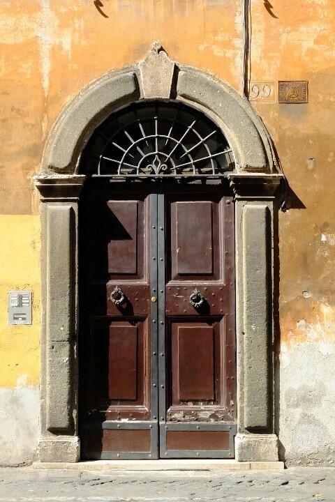 Roman door. & 230 best The Doors of Rome images on Pinterest | Entryway Windows ...