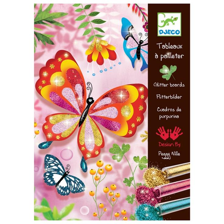 Djeco Glitter Boards Butterflies