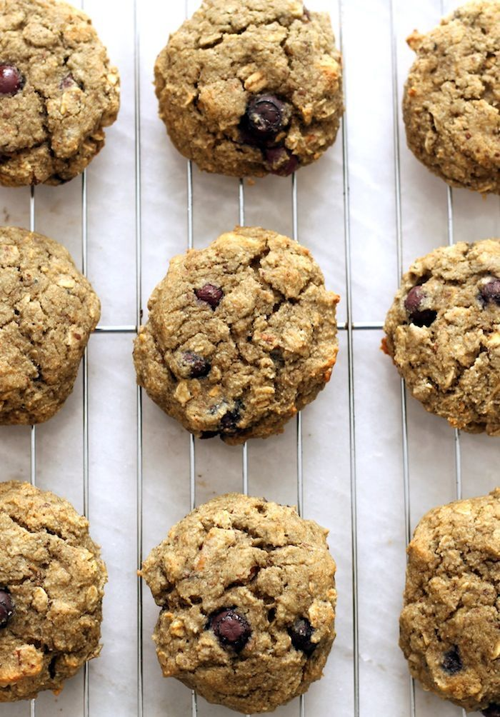 Flourless Dairy-Free Blueberry Muffin Breakfast Cookies...free of butter, oil, ang gluten. These super easy cookies are light, fluffy, and great for breakfast on the go.