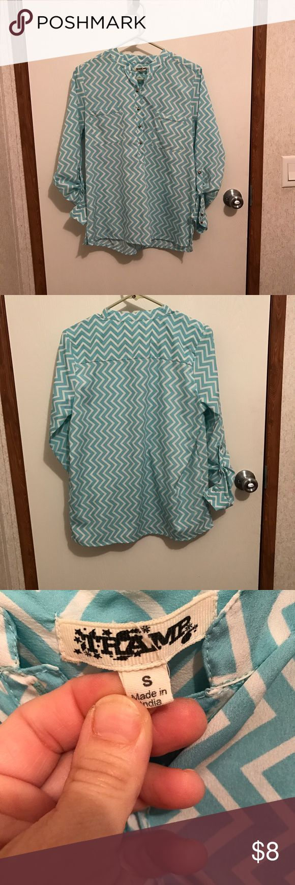 Chevron Shirt size Small Chevron Shirt size Small has a flaw see last picture. Tops Blouses