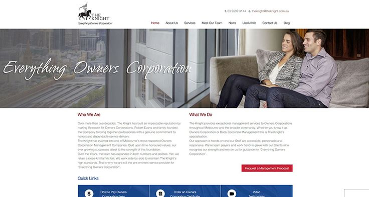 BSO is excited to unveil The Knight's new web design built using WordPress. BSO created custom galleries, videos and pop up forms to polish this award winning website off.
