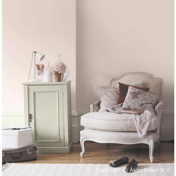 Dulux blossom white and apple white furniture. Love this colour for a bedroom!