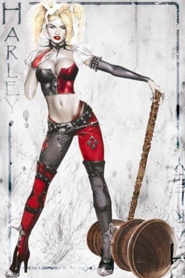 3D Harley Quinn doppelklicken nach Batman and Rotkehlchen