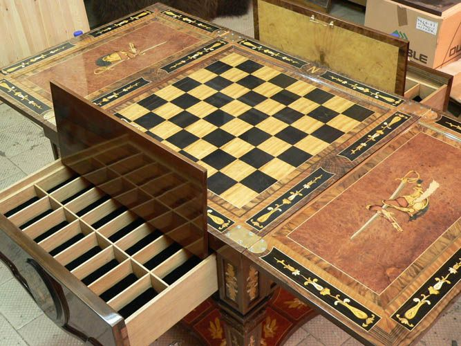 Charming Small Tables, Open And They Are Chess Tables
