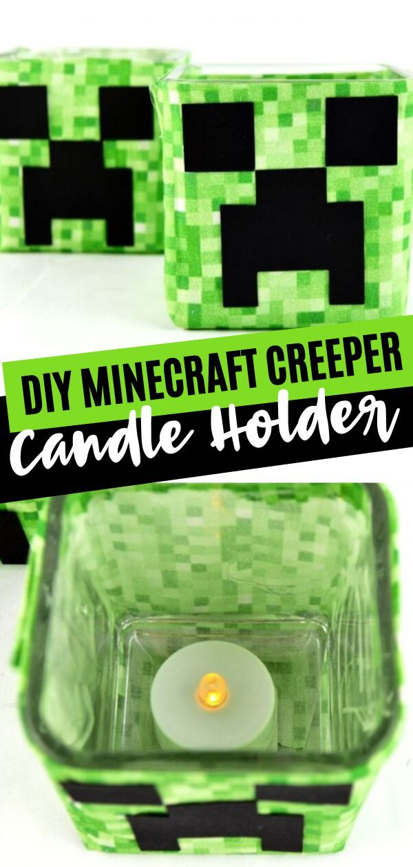 DIY Minecraft Creeper Candle Holder