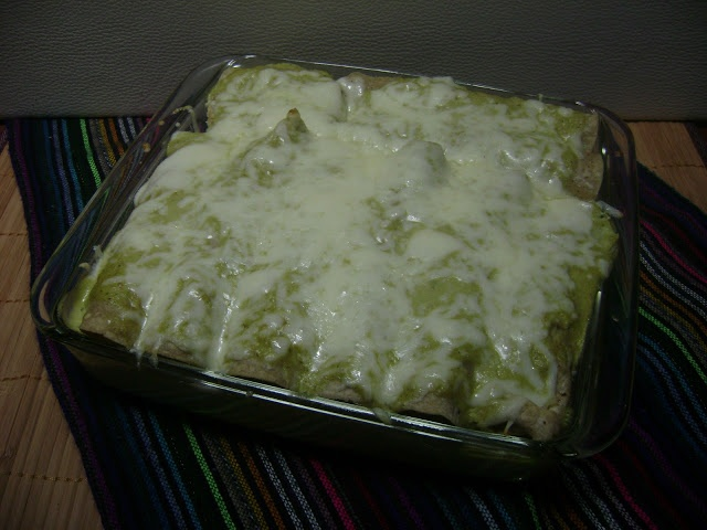 Chicken Enchiladas Suizas  -  recipe also includes how to prepare your own easy seasoned chicken that can be used in other Mexican dishes.