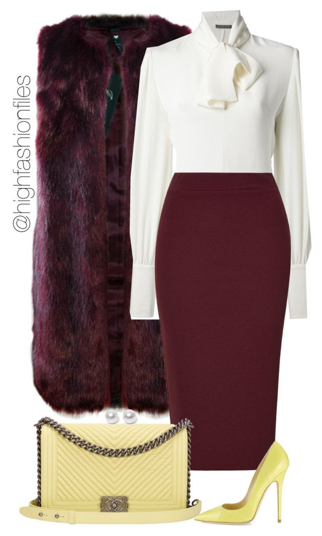 """Church Ready"" by highfashionfiles ❤ liked on Polyvore featuring Alexander McQueen, Rare London, Chanel, Jimmy Choo and Nouv-Elle"