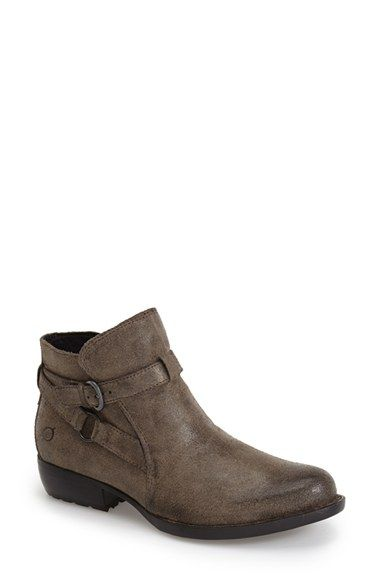Free shipping and returns on Børn 'Baily' Ankle Bootie (Women) (Nordstrom Exclusive) at Nordstrom.com. This Italian-leather ankle boot boasts a classic look with moto-inspired edge thanks to the hardware-adorned straps. Hand sewn Opanka construction creates a flexible, foot-conforming fit, as dual-density foam cushioning provides supportive comfort.