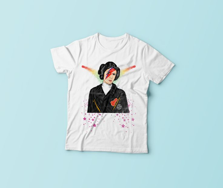 New to CrazyPugPrints on Etsy: Star Wars - Leia -  Rebel Rebel - David Bowie - T-Shirt (6.99 GBP)